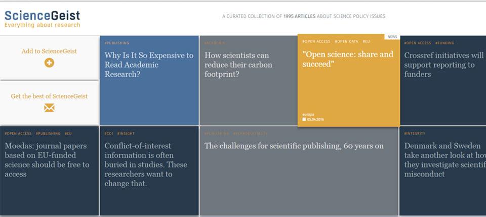 Sciencegeist recherche scientifique