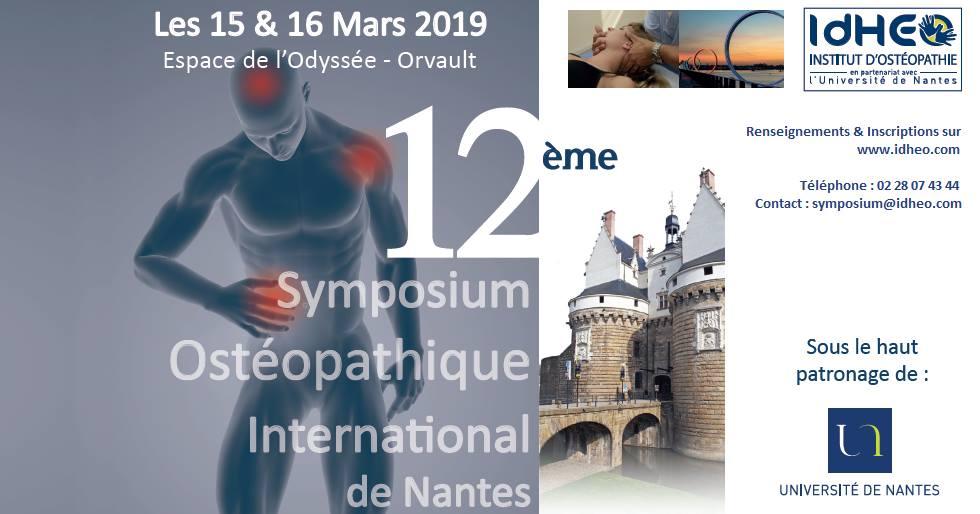 symposium ostéopathie nantes 2019